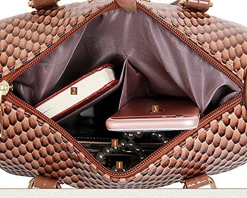 Eysee - Cartera de mano para mujer Marrón marrón 30cm*29cm*14cm negro