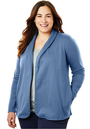 2452d16bc65 Woman Within Plus Size 7-Day Knit Jacket at Amazon Women s Clothing ...