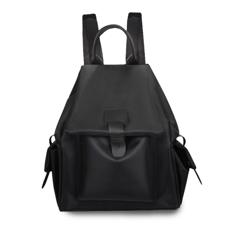 ladies shoulder bagfashion bucket backpack simple high-capacity ladies travel backpack,black