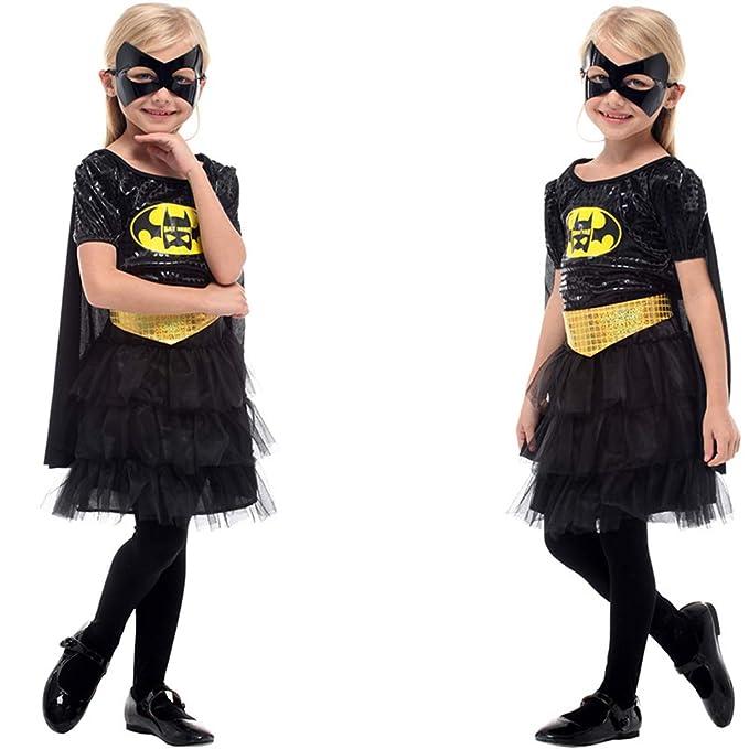 ZHAOXUAN Niños Batgirl Disfraz Navidad Halloween Carnaval ...