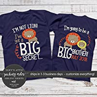Big brother to be shirt - I'm not lion I'm going to be a big brother
