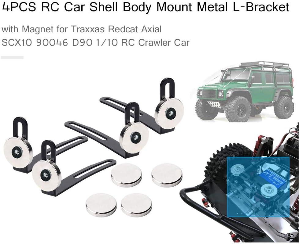 Dilwe RC Car Rear Shell Karosseriehalter Aluminiumlegierung RC Crawler Rear Shell Karosseriehalter f/ür Traxxax TRX-4 RC Auto Ersatzteil Rot