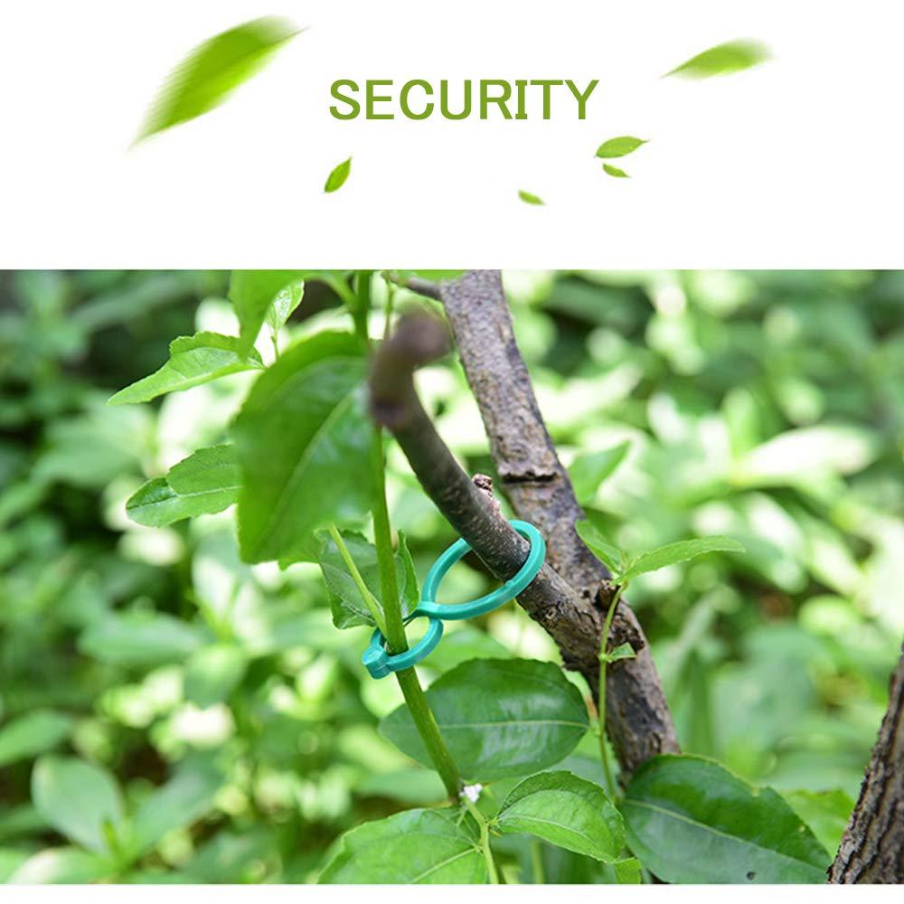 Plant Twist Clip Ties Garden Plant Support Clips Vegetables Tomato Vine Flower Clips Plant Locks for Securing Plants(100 Pcs )