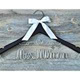 Personalized Wedding Dress Hanger Bridal Dress Hanger, Custom Bridesmaid Name Hanger With Date, Wedding Hanger
