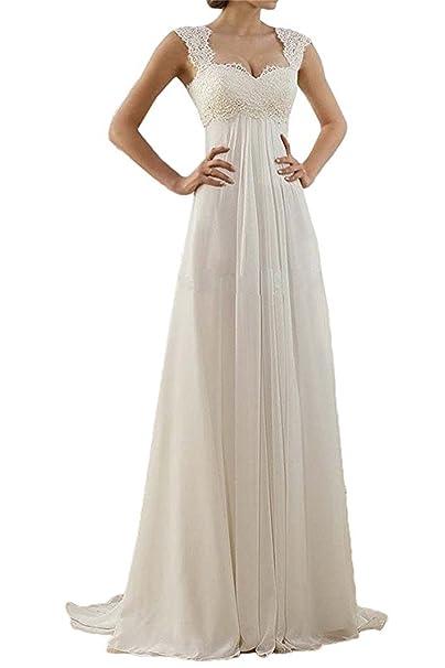 ANJURUISI Women s Sweetheart Vestido de Novia de Encaje de Gasa Vestidos de Boda de