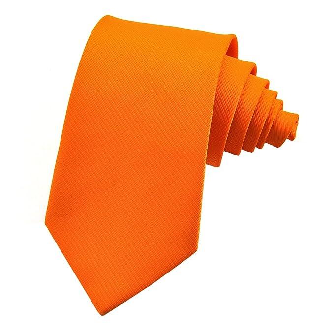 PenSee - Corbata de color sólido para hombre, diseño clásico ...