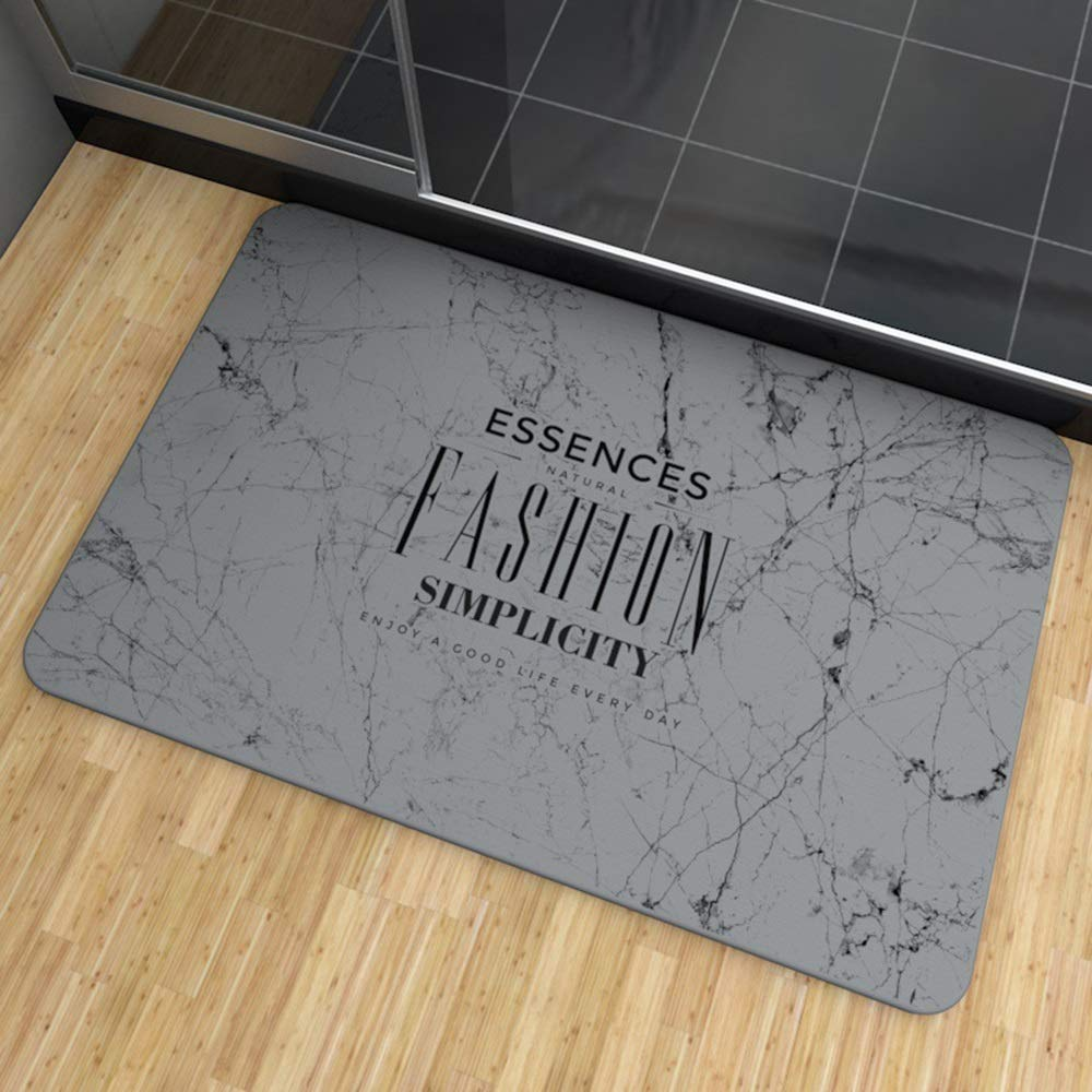 TOMSSL Fashion Pattern Natural Diatomaceous Earth Bath Mat Absorbent Water Quick-Drying Does Not Fade Furniture Versatile Brushed Surface Mat (Size : 3545)