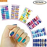 #3: Holiday DIY Water Transfer Nail Art Stickers, Nail Beauty Decals Water-Slide for Women Girls Kids, Fake Temporary Nail Wraps Gift, 6 sheets Perfect Dress up for Nails