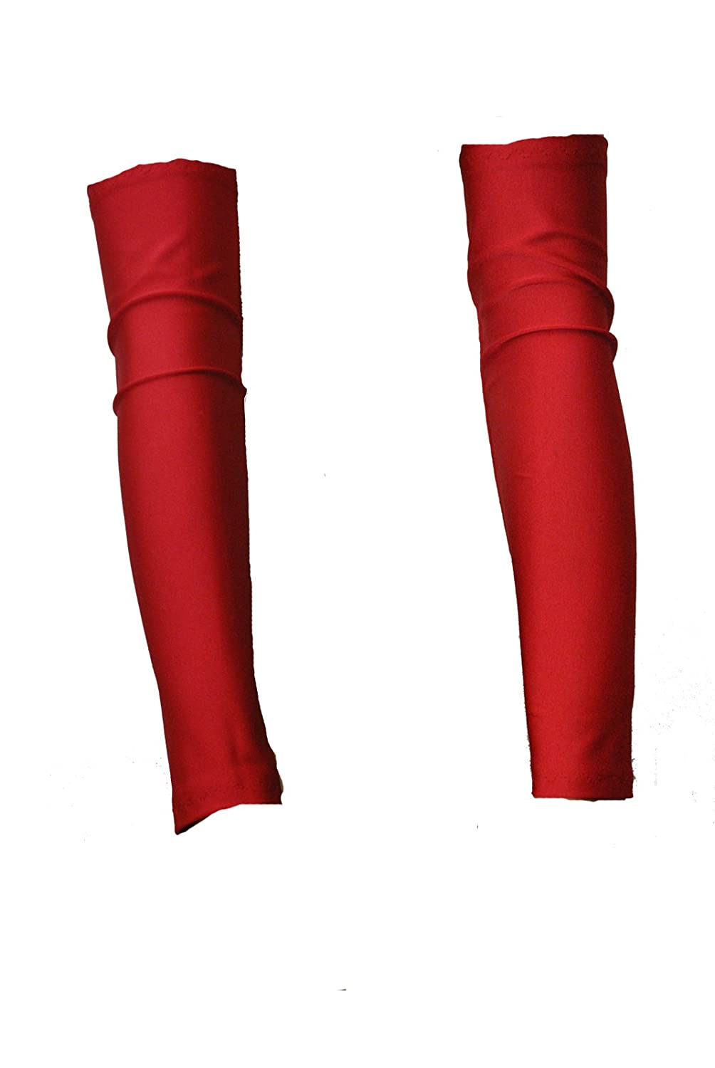 G29 - A Pair of Red Fantasystore Brand Lycra Arm Warmers Gauntlets FSA-G29