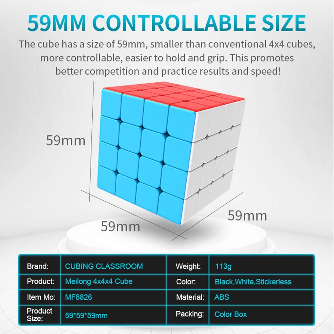 Speed Cube Set 4 Pack Magic Cube Bundle 4x4x4 5x5x5 6x6x6 7x7x7 Cubes Collection Puzzle Toy for Kids deguojilvxingshe MF8863 Cubing Classroom Meilong Cube Set