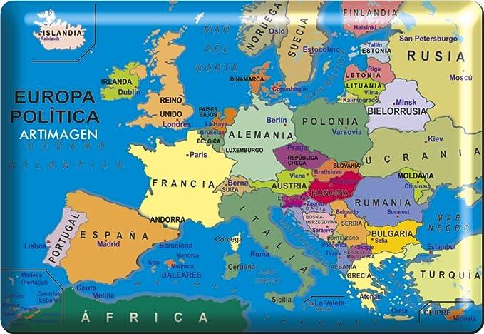 Artimagen Imán Mapa Europa 80x55 mm. Resina: Amazon.es: Hogar