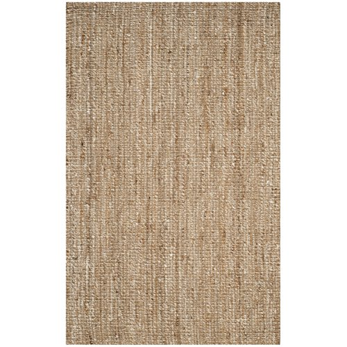 Ivory Jute Rug (Safavieh Natural Fiber Collection NF447N Hand Woven Natural and Ivory Jute Area Rug (2'6