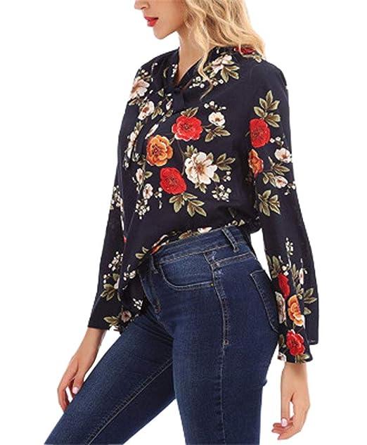 Mujeres De La Moda Fuera del Hombro De Costura A Rayas con Cuello En V Camisetas Largas Blusas Sueltas para Mujeres Simples Mangas Llenas Holgados De La ...