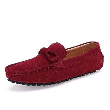 Zapatos de Ante/Perezosos para Hombres Zapatos de Barco de Primavera/otoño Zapatos de conducción para Hombre Mocasines Diarios/de Oficina/Casuales (Color ...