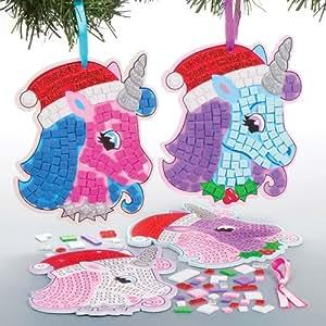 Baker ross adornos navide os de unicornios en mosaico para for Adornos navidenos que pueden hacer los ninos