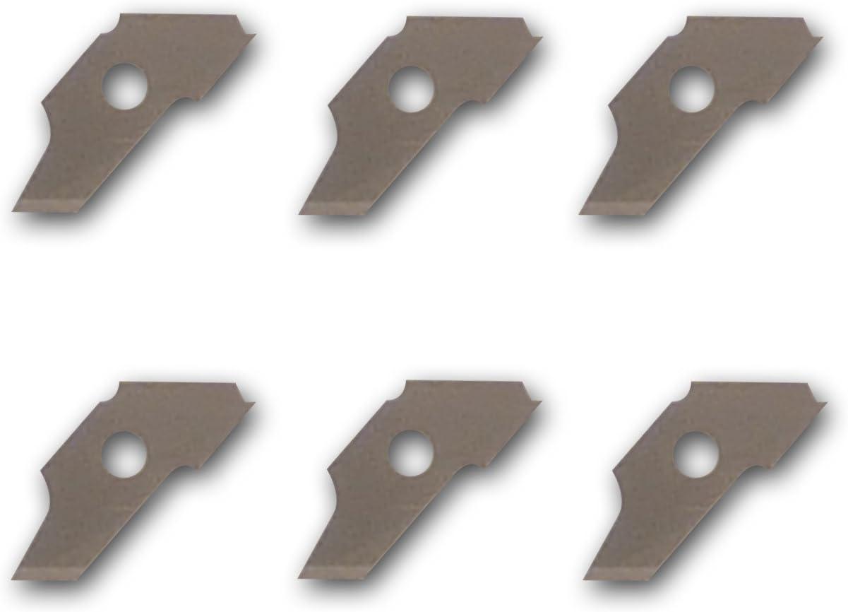 Mah/é ou96/Set de 6/Cuchillas de Repuesto para c/úter Circular Metal Gris 4/x 12/x 1/cm