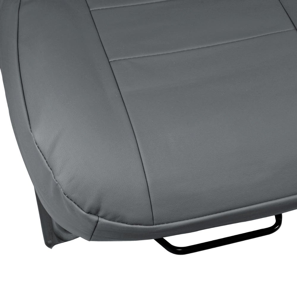 Charcoal Gray PU Leather Seat Covers Luxury Leatherette Armrest /& Integrated Seatbelt