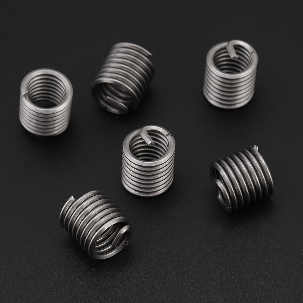 Sturdy Durable 60pcs 304 Stainless Steel Wire Screw Sleeve Thread Repair Insert Assortment Kit Thread Repair Kit