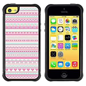 LASTONE PHONE CASE / Suave Silicona Caso Carcasa de Caucho Funda para Apple Iphone 5C / pattern native American folk pink