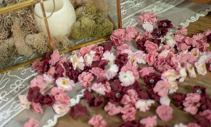 Sweetheart Table Decor Bridal Shower Decorations Artificial Flowers Plum Wedding Table Decorations Confetti Dessert Table Decor