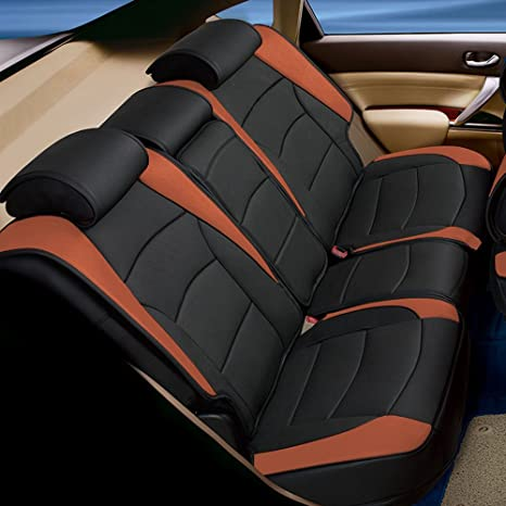 Fine Fh Group Pu205013 Ultra Comfort Leatherette Bench Seat Cushions Brown Black Color Fit Most Car Truck Suv Or Van Theyellowbook Wood Chair Design Ideas Theyellowbookinfo