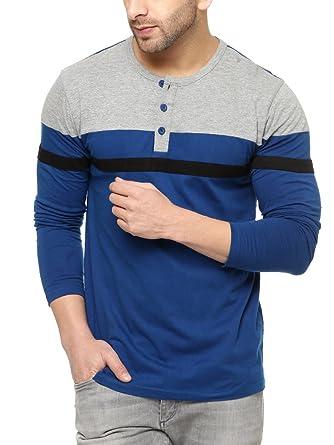 841c97c059c GRITSTONES Men s Plain Regular fit T-Shirt (GSFSTSHT1395GMIND Grey Small)
