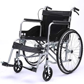 Amazon.com: Silla de ruedas de transporte con rueda plana ...