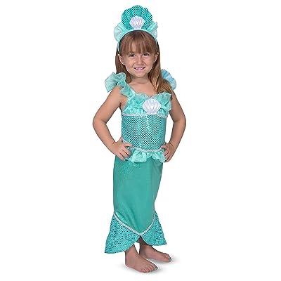 Melissa & Doug Mermaid Role Play Costume Set - Gown With Flared Tail, Seashell Tiara: Melissa & Doug, Melissa & Doug: Toys & Games