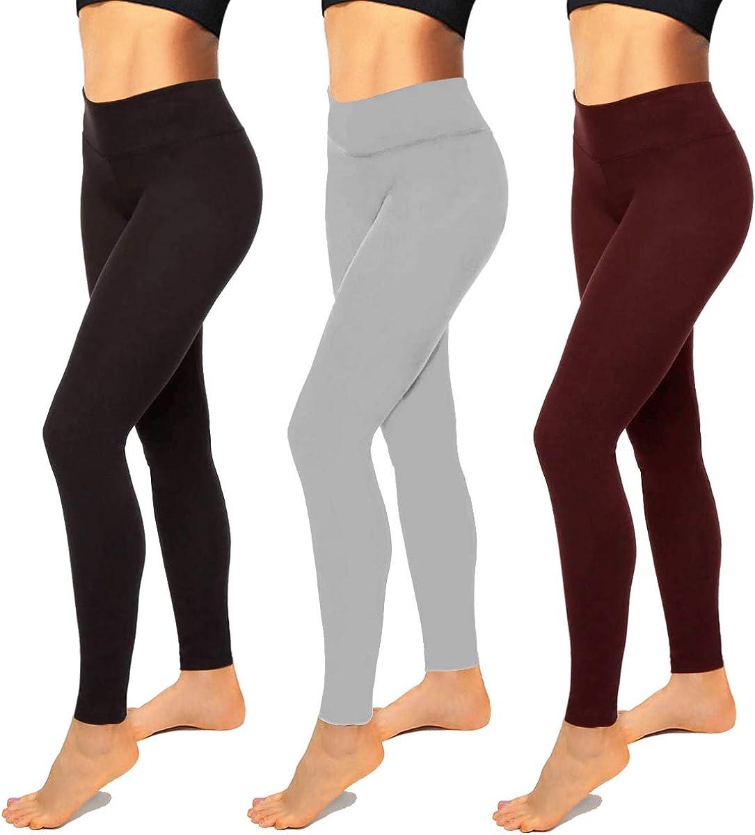 Premium Black Leggings for Women-High Waist Leggings Soft Athletic Tummy Control Pants for Running Cycling Yoga Workout
