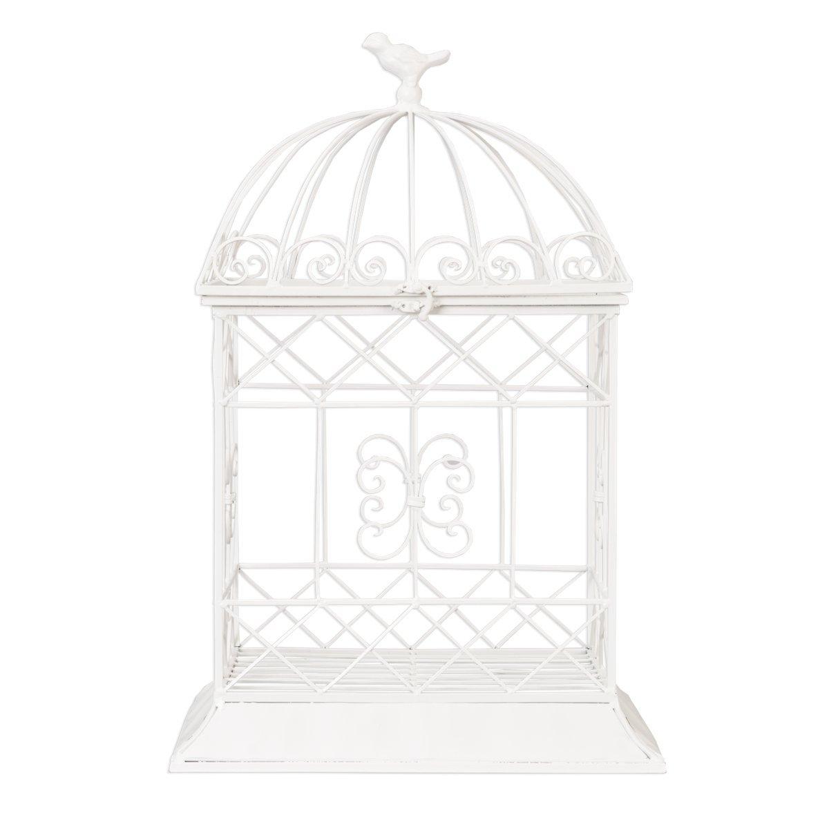 5Y0082W Clayre & Eef - Voliera - Gabbia - Bianco ca. 40 x 32 x 61 cm