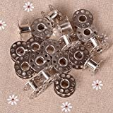 bernina quilting frame - 20pcs Sewing Machine Bobbins Stainless Metal For Kenmore Viking Singer, Suitable for all kind of sewing factory or home use