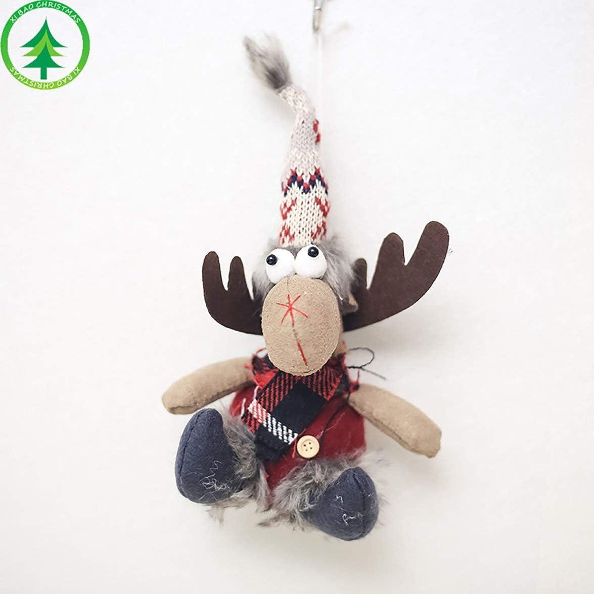 Kongqiabona Weihnachts Elch Puppe Spielzeug Dekoration Ornamente Hängeanhänger Für Kinder Urlaub Zubehör Weiß Rot Küche Haushalt