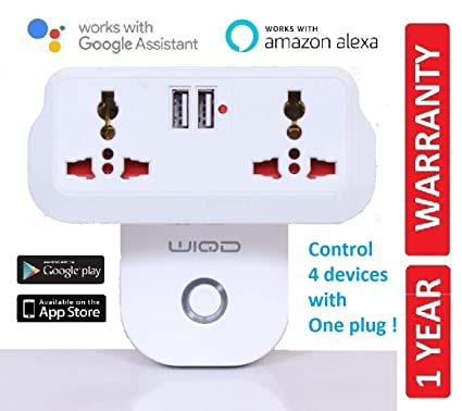 WIQD Smart WiFi Plug Socket with Extension Plug, Compatible