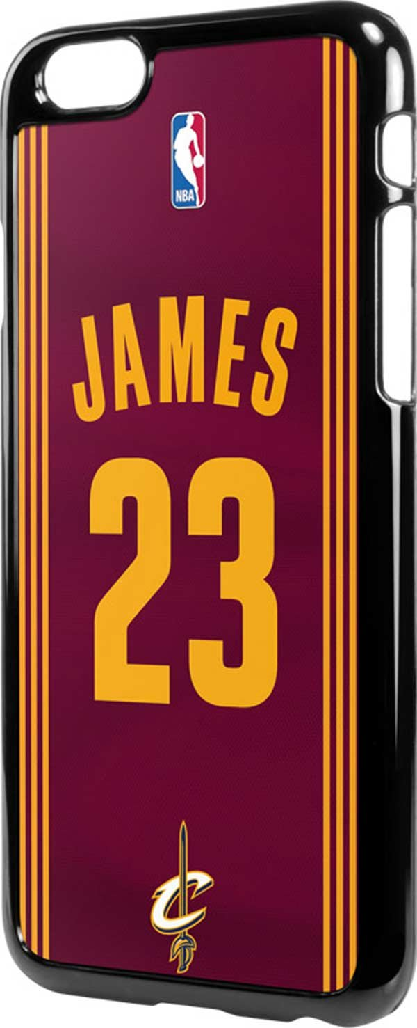 454aa5850 Amazon.com   NBA Cleveland Cavaliers iPhone 6 6s LeNu Case - LeBron James   23 Cleveland Cavaliers Away Jersey Lenu Case For Your iPhone 6 6s   Sports    ...