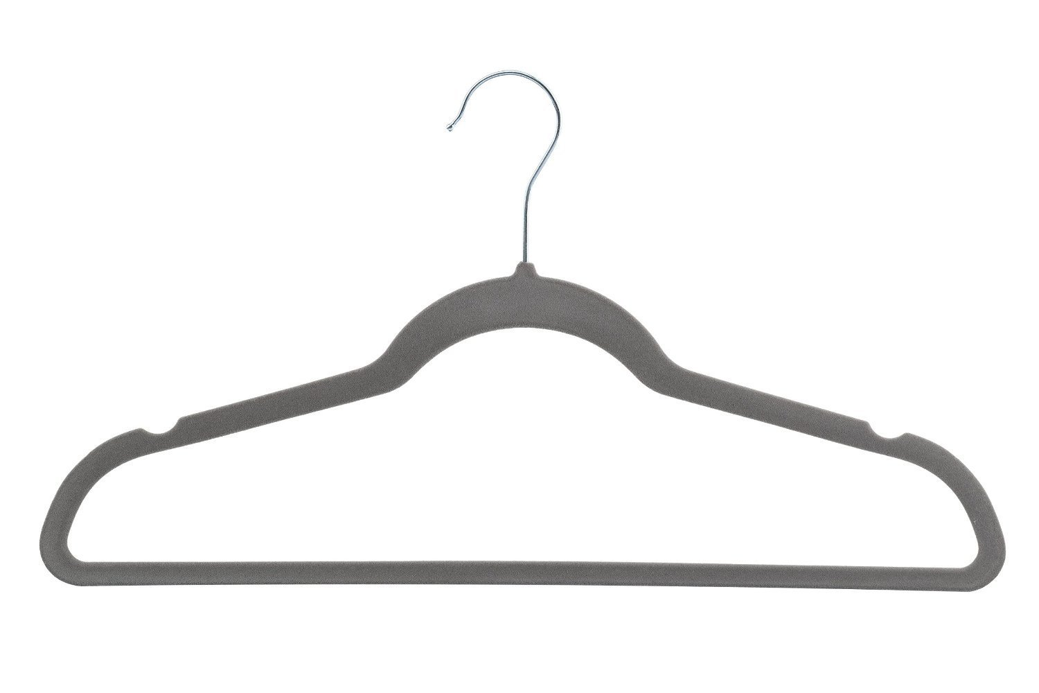 Home-it 50 Pack Clothes Hangers Gray Velvet Hangers Clothes Hanger Ultra Thin No Slip