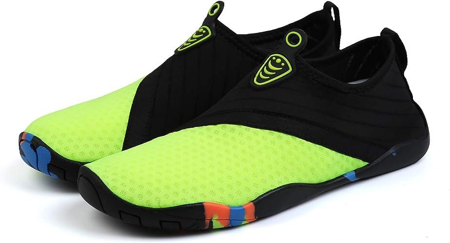 Aqua Water Sports Shoes for Men /& Women Quick-Dry Surf Swim Shoes Barefoot Yoga Anti-Slip Socks with Mesh Upper