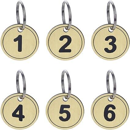 Aspire Tag chiave Portachiavi con etichetta in metallo 200 pezzi 1-200 Blue