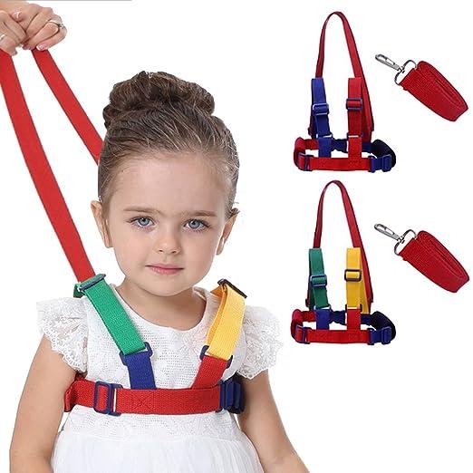 1.2m+0.6m Reins /& Walking Harness Adjustable Wristlink Toddler Child Safe New