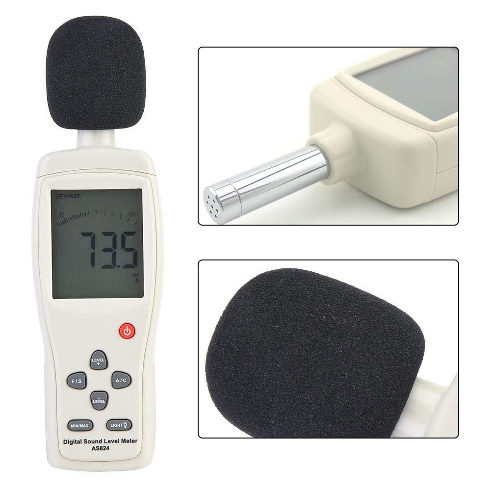 Sonom/ètre num/érique AS824 Testeur de mesure du bruit de sonom/ètre num/érique portable int/égr/é pour sortie sign/ée AC et DC