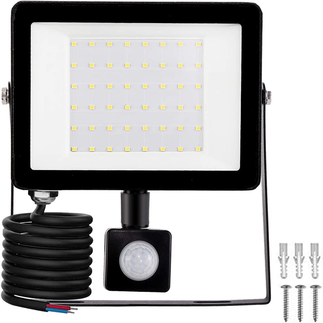 LED Foco Exterior con Sensor Movimiento, Proyector Led Impermeable IP65