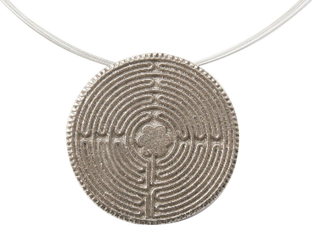 Anh/änger Labyrinth aus Silberbronze