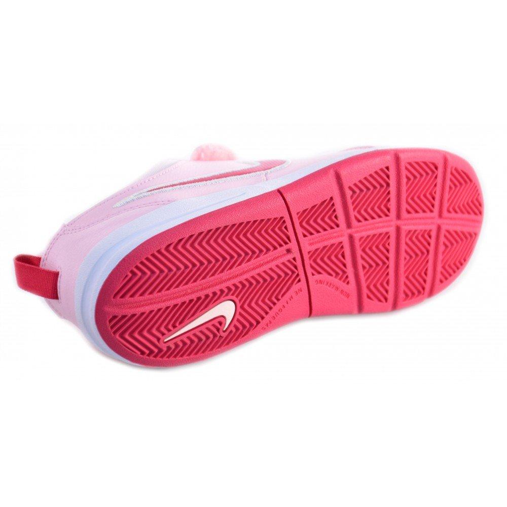 Nike - Nike Pico 4 (PSV) Scarpe Bambina Rosa Pelle Strappi Velcro 454477 - Rosa, 31.5
