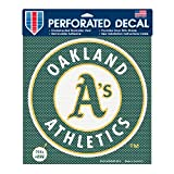 MLB Oakland Athletics Perforated Decal, Large/12 x 12-Inch, White