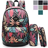CrossLandy School Bookbag Floral School Backpack Fits 15.6in Laptop Deal