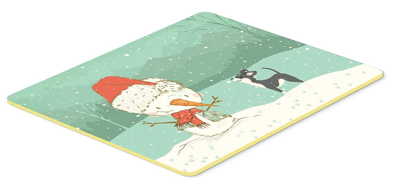 Caroline's Treasures CK2080CMT ブラック チワワ 雪だるま クリスマス キッチンまたはバスマット 20x30 高さ20x幅30インチ マルチカラー   B07J1V9PPD