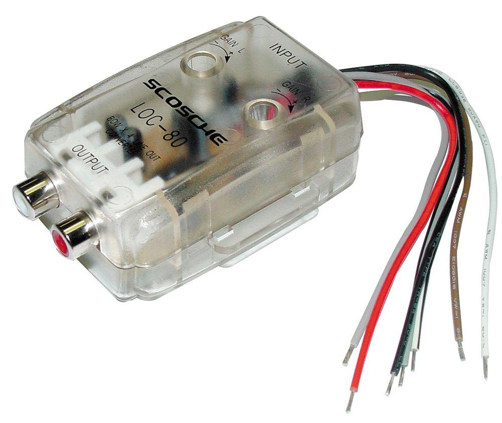 scosche line out converter wiring diagram scosche amazon com scosche loc80 2 channel adjustable lineout converter on scosche line out converter wiring diagram