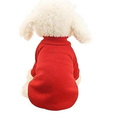 INTERNET Ropa para Perros, Ropa De Abrigo para Mascotas Abrigo De Cachorro (XS,