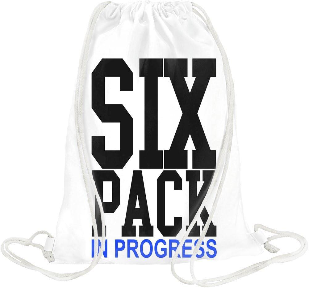 SIX PACK in Progress eslogan de deporte con cordón Bag: Amazon.es ...