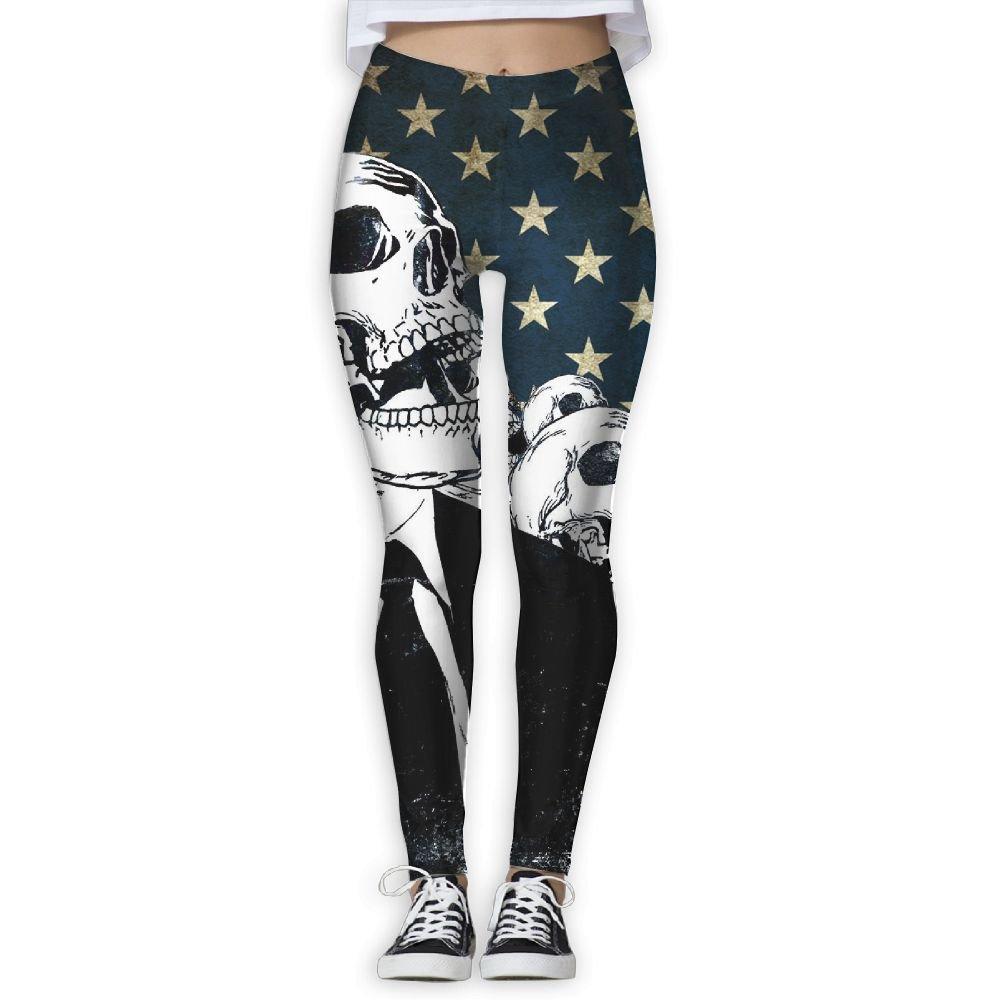 Jasonasd Skull White-Collar American Flag Womens Popular ...
