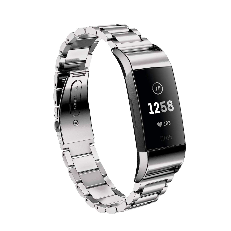 Elobeth Fitbit充電用バンド2つ、Milanese磁気ループ交換用ベルトステンレススチール 腕時計バンド 金属製手首ベルト + Fitbit充電用のコネクター金属アダプター 2つ ゴールド BOUS_FTBITCHARG2MLADPGD  Gold-S B07H6WY78Z